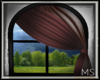 Maroon Curtains/Window