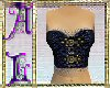 Corset Buckled Blue