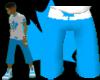 [LNR] Blue-N-White Short