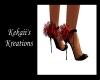 Black&Red Bloom Heels