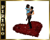 Red Heart Rug for Lovers