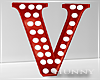 H. Marquee Letter Red V