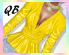 Q~Leather Yellow Top