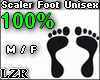 Scaler Foot Unisex 100%