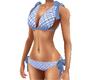 Blue Bows Gingham Bikini