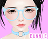 ᕮ Glasses Baby blue