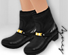 A. Gold Strap AnkleBoots