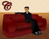 Red Velvet Madrid Couch