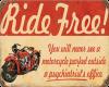 Ride Free Vintage Sign