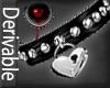 Locked heart collar