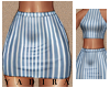 Striped Mini Skirt - L