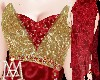 *GODDESS red&gold Gown*