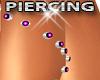 Pink Gem Leg Piercing