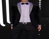 b&w shiny suit