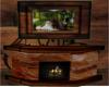 Log cabian Fireplace