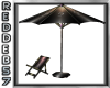 Beach Chair w/Umbrella