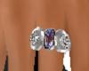 purple saphire diam.ring