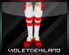 Red&White Kid Socks&Shoe