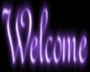 Lght Purple Welcome Sign