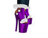 Purple Heels with Fur F