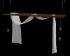 hanging drape with jars