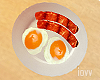 "Iv""Sausages Eggs Plate"