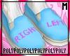 Left/Right Blue (socks)