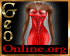 Geo Rachael Gown red