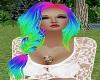 Rainbow side braid
