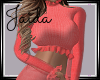 Busty Ruffles - Coral