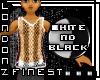 [LF] Blk/Wht String Vest