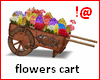 !@ Flowers cart