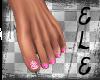 [Ele]HotPinkBlossom Toes
