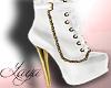 White Gold Stiletto Boot
