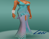 Pearl teal gown w/ slit