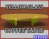 Yellow Glass CoffeeTable
