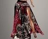 ~CR~Boho Red Skirt