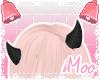 Glittery Horns   Black