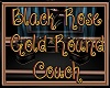 Blk RoseGold Round Couch
