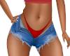 Zoe Red Jean Shorts