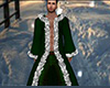Dark Green Fur Robe (M)