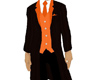 black tux with orange