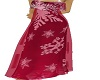 red snowflake gown