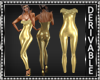 Gold Fur Bodysuit Mesh