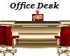 Red/Gold Office Desk