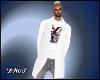D- LV  White Long Blazer