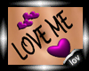 10V:Purple LOVE ME tatto
