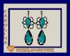 (CR) Teal-Blk Earrings