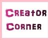Creator Corner Sign