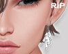 R. Flame earrings L